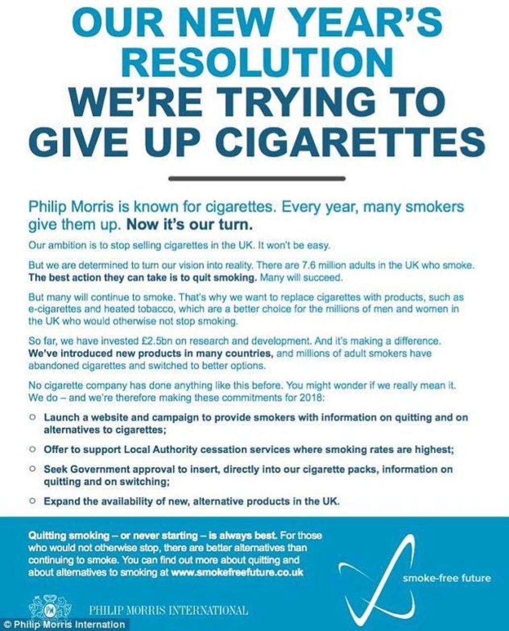 Philip Morris International: a New Year's resolution
