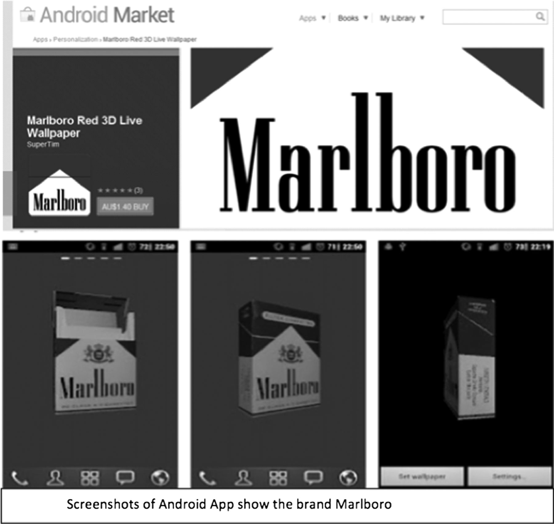 Pro-smoking apps for smartphones: the latest vehicle for the
