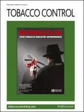 Tobacco Control: 21 (3)