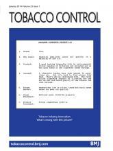 Tobacco Control: 23 (1)