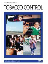 Tobacco Control: 25 (1)