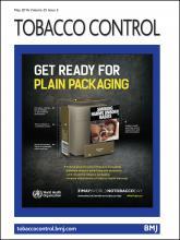 Tobacco Control: 25 (3)