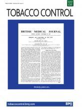 Tobacco Control: 29 (2)